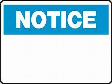 Notice Templates Notice Sign Blank Insert Custom Text Ready Signs