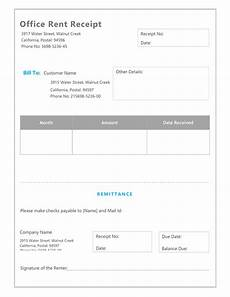 office receipt template free rent receipt template