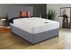 grey fabric divan bed memory foam free headboard