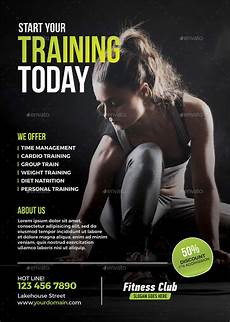 Training Advertisement Template 63 Fitness Flyer Examples Psd Ai Eps Word Formats