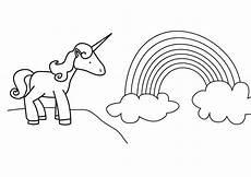 Malvorlagen Gratis Einhorn Selber Machen Ausmalbild M 228 Rchen Einhorn Und Regenbogen Kostenlos