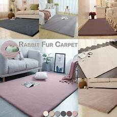 soft faux rabbit fur rug fluffy wool shaggy area