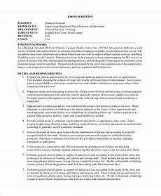 Medical Support Assistant Duties Sample Medical Assistant Job Dutie 7 Documents In Word Pdf