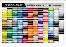 Caliart Markers 100 Color Chart Jual Fine Colour Sketch Marker Pramana Nenggala Prima