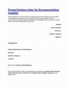 Recommendation Letter Template 43 Free Letter Of Recommendation Templates Amp Samples