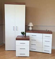 drp trading white walnut bedroom furniture set wardrobe