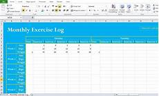 Exercise Log Excel Professional Exercise Log Template Excel Excel Tmp