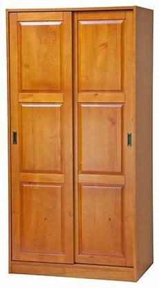 100 solid wood 2 sliding door wardrobe armoire closet