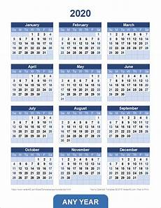 2020 Yearly Calendar Word Yearly Calendar Template For 2020 And Beyond