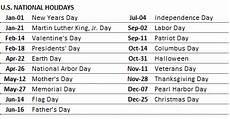 Us Calendars Custom Printable Calendars Excel Template Indzara