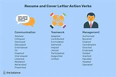 Key Action Words For Resume Resume And Cover Letter Action Verbs