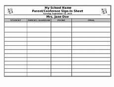 Parent Conference Sign In Sheet Parent Teacher Conference Sign In Sheet By Amy S Pure Life