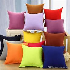 fashion solid color throw pillow cushion cover