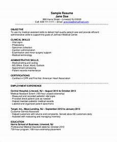 Medical Assistant Dermatology Resume 10 Medical Assistant Resume Templates Pdf Doc Free