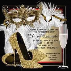 Masquerade Invitation Sample Free 12 Masquerade Birthday Invitation Designs Amp Examples