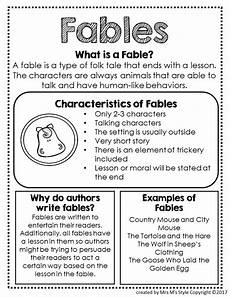 Fable Anchor Chart 2nd Grade Elements Of Fables Anchor Chart Charts Anchors And