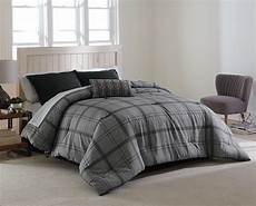 cannon reversible comforter gray plaid home bed