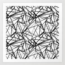 Abstract Art Black And White Patterns Black And White Abstract Geometric Pattern Art Print By