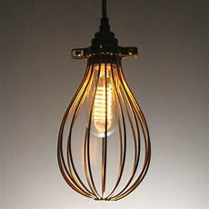 Balloon Whisk Light Gold Whisk Cage For An Industrial Vintage Style Pendant