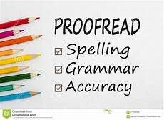 Paper Proofread Proofread Written On Paper Sheet Stock Photo Image Of