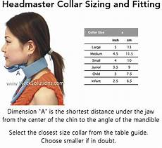 Cervical Collar Size Chart Free Headmaster Collar Cervical Collar Head Support