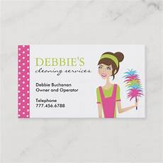 Business Cards For Cleaning Services Whimsical House Cleaning Services Business Cards Zazzle Com