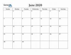 June 2020 Weekly Calendar June 2020 Calendar Pdf Word Excel