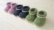 crochet baby how to crochet cuffed baby booties for beginners
