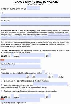 Texas Notice To Vacate Form Free Texas Eviction Notice Templates Tx Eviction Process