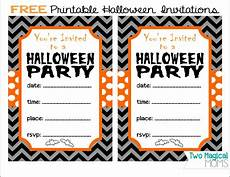 Costume Party Invitations Free Printable Two Magical Free Printable Halloween Invitations