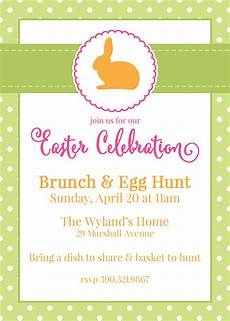 Customizable Invitation Free Customizable Easter Invitations From