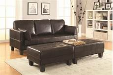 brown leather sofa bed and ottoman set a sofa