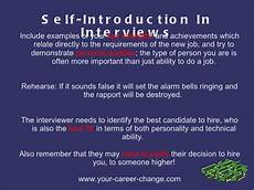 Introduction For Interview Self Introduction In Interviews