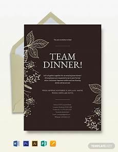 Dinner Invites Templates Free Team Dinner Invitation Template Word Psd Indesign