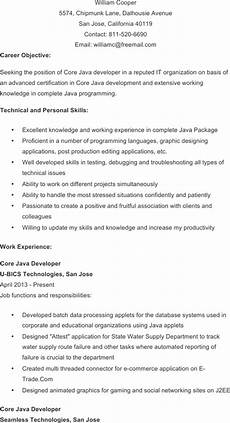 Core Java Resume Download Java Developer Resume Template For Free