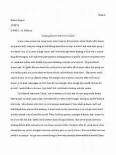 Essay On Alcoholism Alcohol Narrative Essay Alcoholism Alcohol Intoxication