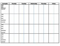 Monthly Plan Template Monthly Lesson Plan Template By Bear Teachers