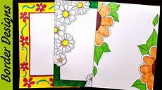 Side Border Designs Border Designs On Paper Border Designs Project Work