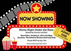 Movie Themed Invitation Template Free Movie Night Party Whisk Paper Scissors