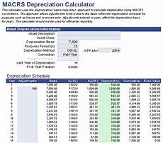 Macrs Excel Free Macrs Depreciation Calculator For Excel
