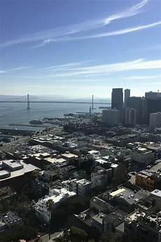 Best Restaurant To See Bay Bridge Lights View Of The Bay Bridge From Coit Tower San Francisco