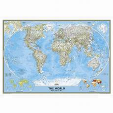 Geographic Map World Classic Wall Map Enlarged And Laminated National