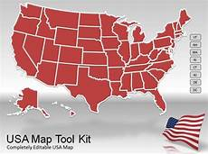 Us Map Template Powerpoint Us Map Powerpoint Template