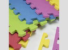 Foam Play Mats (16 Tiles   Borders) Safe Kids Puzzle Playmat   Non Toxic Interlocking Floor