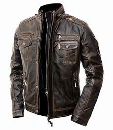 coats motorcycle cafe racer distressed brown leather motorcycle jacket