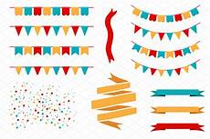 Birthday Flag Banner Template Holiday Flags Garlands And Banners Web Elements