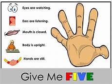 Give Me Five Rules Scanlon Speech Therapy Making Speech Therapy Fun And