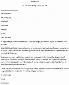 Payroll Cover Letters Payroll Manager Cover Letter Example Learnist Org