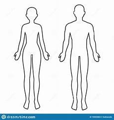 Body Template Outline Female Body Outline Stock Illustrations 3 873