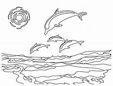 Malvorlagen Delfine Sonnenuntergang Free Printable Dolphin Coloring Pages For